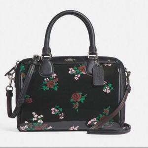 Coach F25856 Mini Bennet Satchel Floral Print Bag